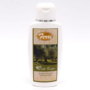 Latte corpo all'olio extra vergine di oliva e latte d'asina
